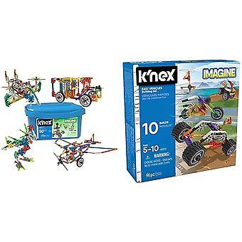 K'nex - Imagine Creation Zone Building Set & Imagine 45510, Beginner Fun Fast Vehicles Building