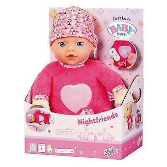 Dieťa narodené nočnéfriends plyšová bábika rozsvieti bruško