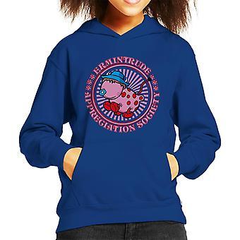 The Magic Roundabout Ermintrude Appreciation Society Kid's Hooded Sweatshirt