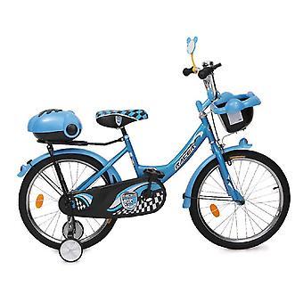 Bicicleta para niños Byox 20 pulgadas 2082 azul, ruedas de apoyo, dos cestas de equipaje, campana