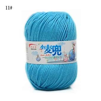 Hilo de algodón de leche diy caliente, lana de bebé para tejer, manta de punto de punto a mano