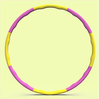 Hula hoop cintura delgada abdominal fitness extraíble agravado 90cm espuma ondulada suave hula hoop