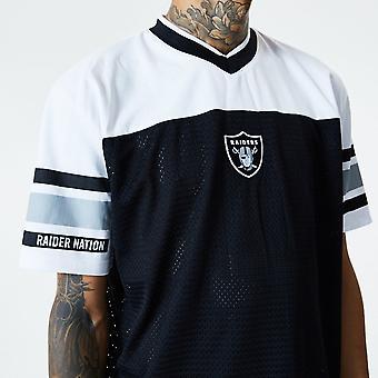 ニューエラ NFL ラスベガス レイダース ジャカード ブラック オーバーサイズ メッシュ T シャツ