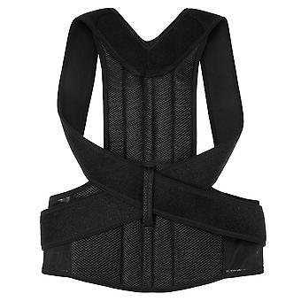 Lumbar upper lower back support strap belt adjustable posture corrector shoulder relief brace