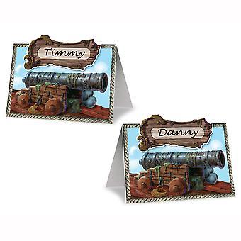 Tarjetas de cañón pirata (pack de 12)