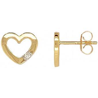 Mark Milton Diamond Hjärtörhängen - Guld
