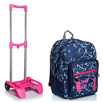 Kit escolar - EXTRA FIT Seven BACKPACK + Backpack Trolley - Corazones teñidos