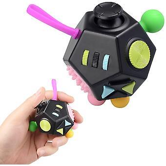 HanFei Fidget Cube Antistress Wrfel ADHS Spielzeug Finger Spielzeug Stressabbau klein Gadget fr