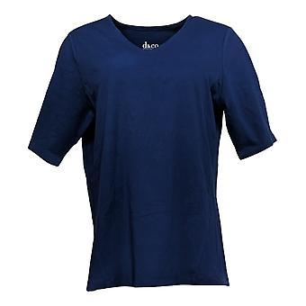 Denim & Co. Women's Top Essentials Knit W/ Seam Detail Blue A346690