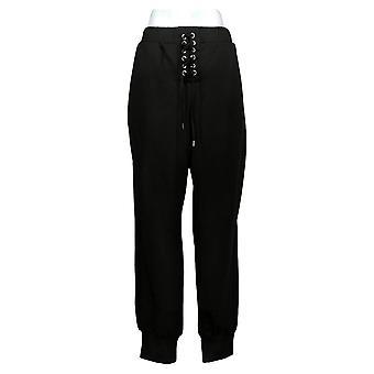 All Worthy Hunter McGrady Women's Pants Lace Up Joggers Black A391607