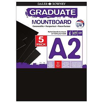 Daler Rowney Graduate Mount Board 5pk Black A2