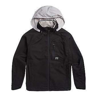 Animal Yukon Full Zip Fleece in Black