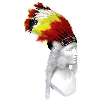 Native American Indian Chief Mens kostuum veren hoofdtooi