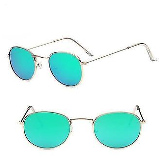 משקפי שמש עגולים רטרו מותג מעצב משקפי שמש עבור מראה מסגסוגת נשים