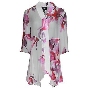 Frank Lyman Long Sleeves Floral Print Open Jacket