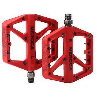 Punainen ultrakevyt litteä maastopyörä polkimet nailon polkupyörän poljin, punainen az9884