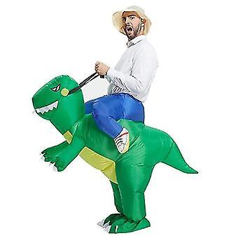 Puhallettava dinosaurus puku aikuisille , party blow up puku