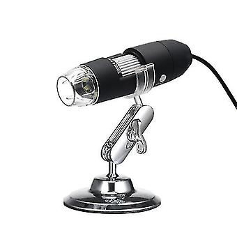 USB Digital Zoom Microscope Magnifier with OTG Function 8-LED Light Magnifying Glass 1000X