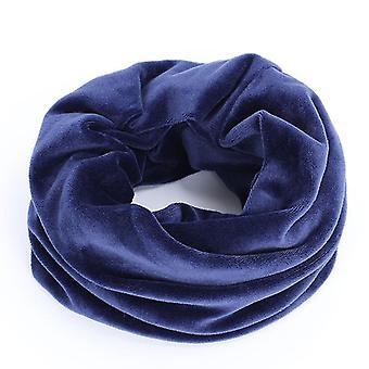Neue Mode Glänzende Mütze, Herbst / Winter Weibliche Casual Hut, Schal (Navy Schal)