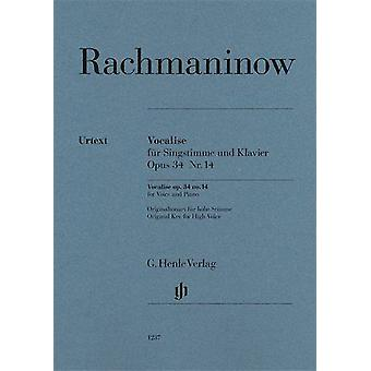 Rachmaninoff: Vocalise op. 34 Nr. 14 High Voice