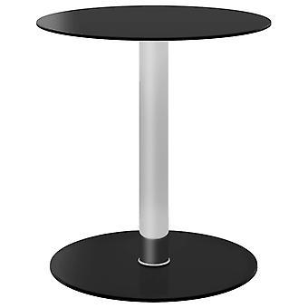 vidaXL Coffee Table Black 40 cm Tempered Glass