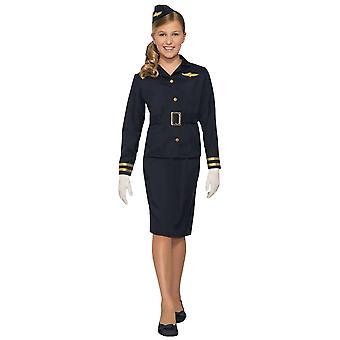 Stewardess Flight Attendant Cabin Crew Air Hostess Book Week Girls Costume