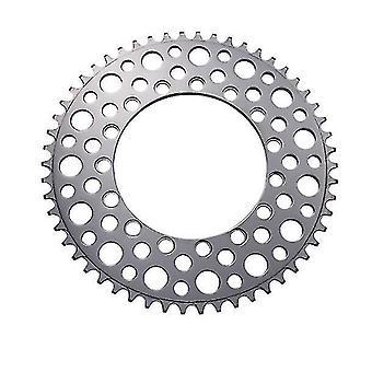 Folding Bike 56T Chainring Road Bike Negative Teeth Single Chainring,silver(Silver)