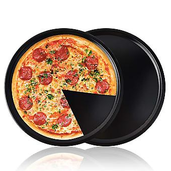 2-pack Non-stick 13 Inch 32cm Round Pizza Pan Set