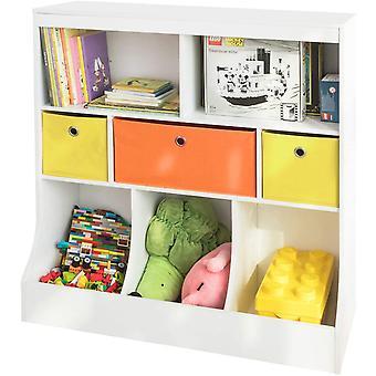 SoBuy KMB26-W, Organizer na półki dla dzieci z szufladami z tkaniny