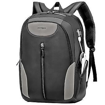 17.3 Inches Laptop Backpack  Travel Backpack Water-resistant Professional Business Backpack-grey