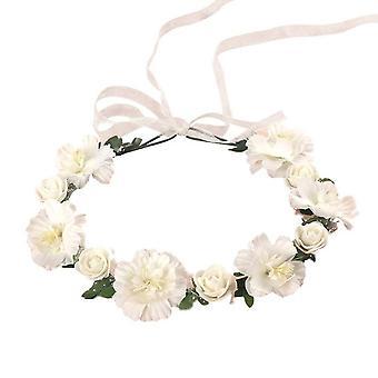 3PCS  Adult Kids Irregular Faux Rose Flower Headband Flower Girls Bridal Wedding Gradient Colored