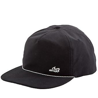 Drifter unstructured snapback hat black