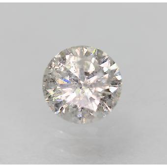 Certificado 0.34 Quilates F Color Round Brilhante Natural Loose Diamond 4.49mm