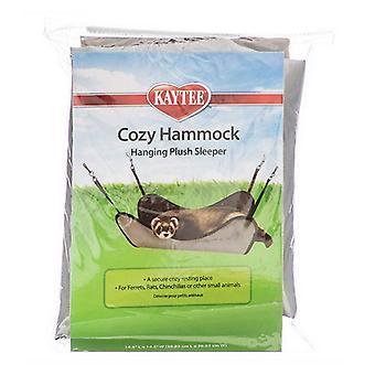 """Kaytee Plush Hammock Hanging Sleeper - Assorted - 14.5"""" Long x 14.5"""" Wide"""
