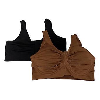 Rhonda Shear «Perfect Match» 2-Pack Moisture-Wicking Underwire Noir 749424