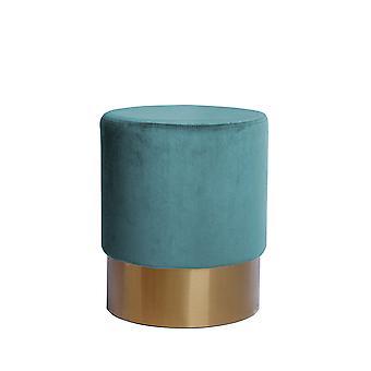 Ottoman - Modern - Blue - Pine wood - 35cm x 35cm x 42cm