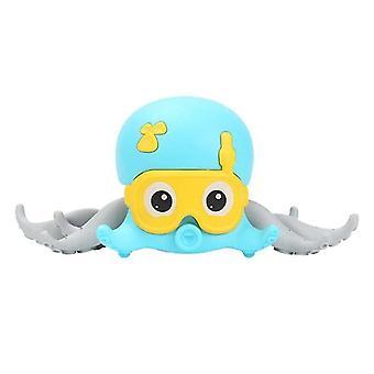 Bath toys cute animal octopus bath toys baby clockwork bath toy rope pulled crawling beach walking toy blue