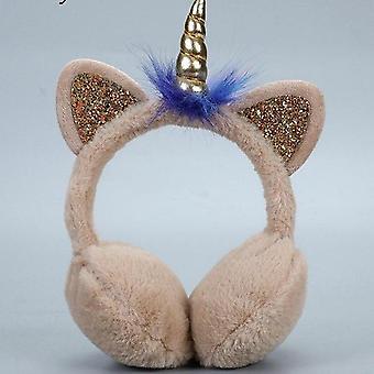 ילדים חמוד חתול חורף מחממי אוזניים, כיסוי אוזן קטיפה חמה