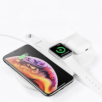 Zikko Zw8004 Smart Wireless Charger Charging Station 3in1 Watch For Apple / Iphone X / Airpods
