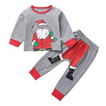 Kids Girl Boy Kerst Print Pyjama Set Nachtkleding Nachtkleding Xmas Pjs