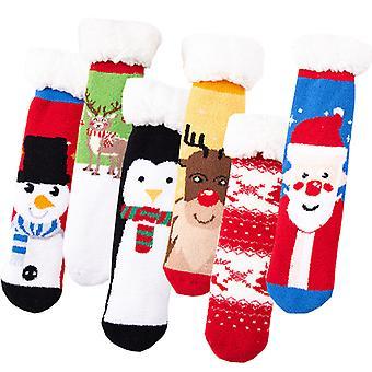 Evago 3 par Santa Ull Sokker Vinter Varm Fotturer Tykk Termisk Koselig Boot Crew Komfortable Sokker For Damer Julegave Til Kvinner