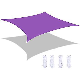 Shade Sail Rectangular Shade Tarpaulin Outdoor Waterproof And Uv Resistant,2*2m,purple