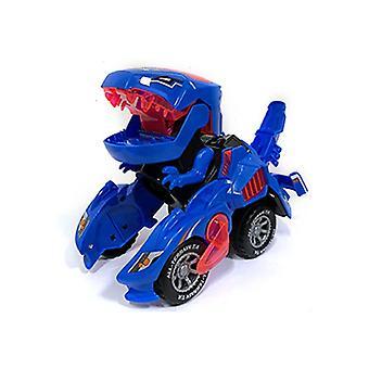 Child Transforming Gold Steel Dinosaur Car Model Toys Automatic Dinosaur