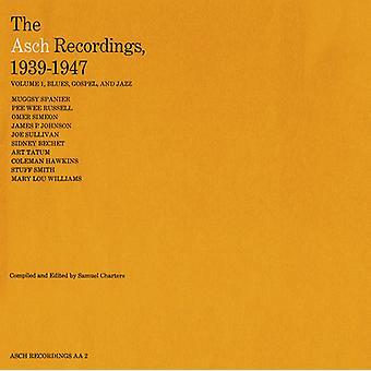 Asch Recordings - Vol. 1-Asch Recordings 1939-47: importación de los E.e.u.u. Evangelio Blues y Jaz [CD]