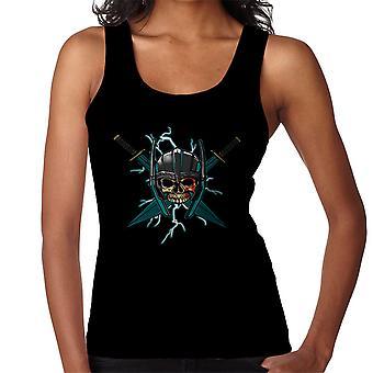 Ragnarok Thor Skull Cross Swords Women's Vest