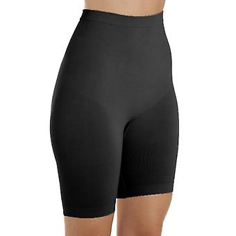 Camille Womens Seamfree Shapewear Comfort Control Thigh Slimmer Brief In Black