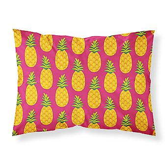 Pineapples on Pink Fabric Standard Pillowcase