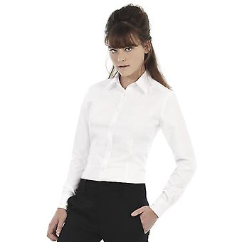 B&C Ladies Oxford Long Sleeve Corporate Shirt-SWO03
