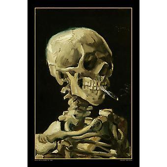 Van Gogh Skull Poster Print Skull with cigarette Poster Poster Print