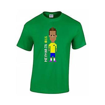 Neymar-Spieler-T-Shirt (grün) - Kids